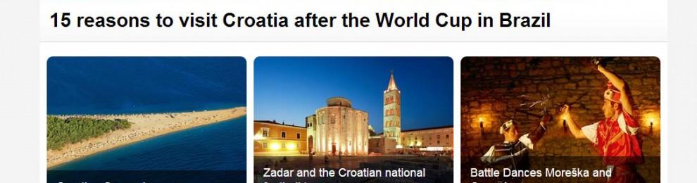 Kroatien utnyttjar VM-yran och drar paralleller till Brasilien i ny turismkampanj
