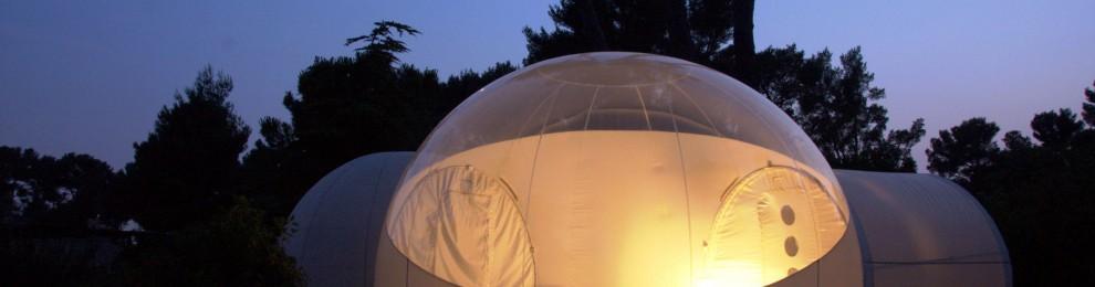 Sov i en ekologisk bubbla på Attrap'Rêves