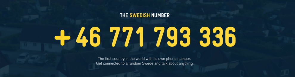 The Swedish Number – ring Sverige!