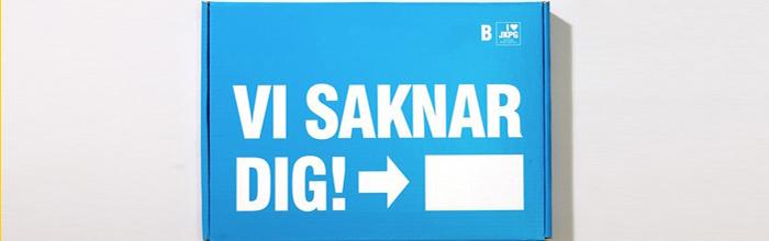 Vi saknar dig – prisbelönt kampanj från Jönköping