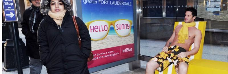 Fort Lauderdale tar sommarvärmen till iskallt New York