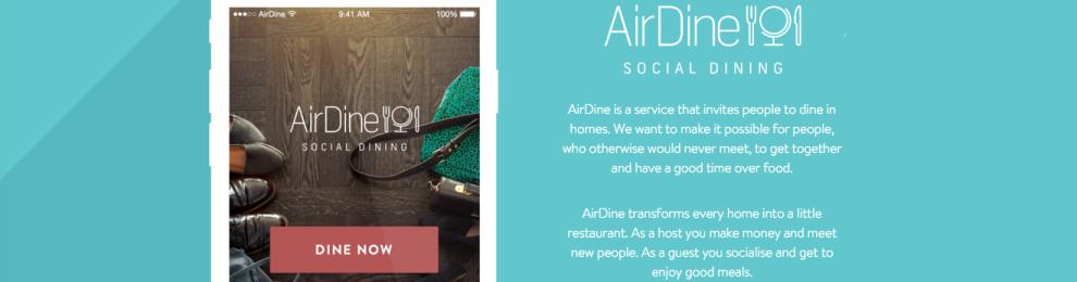 AirDine – förmedling av middagar