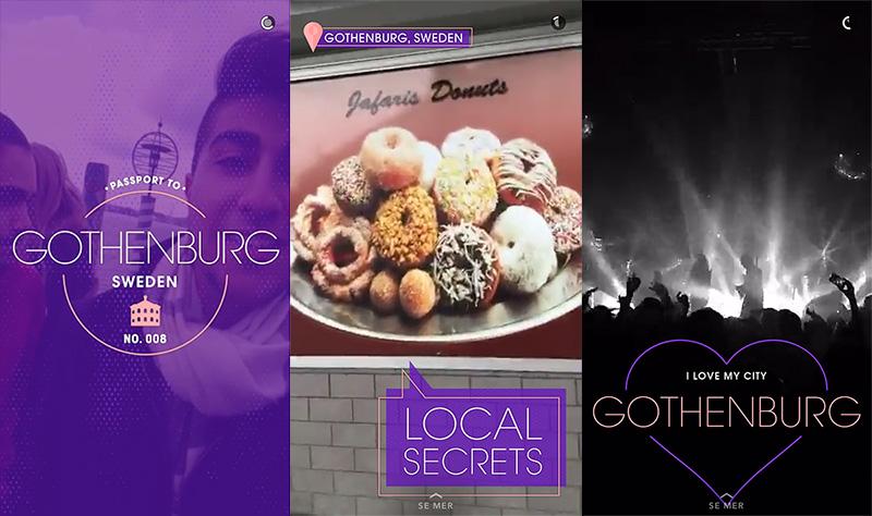 Snapchat live story från Göteborg 2016-04-28
