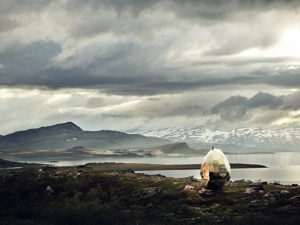Solar Egg Bastu i Kiruna